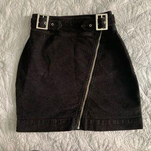 UO Harmony Corduroy Zip-Front Skirt